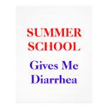 Summer School Diarrhea Personalized Flyer