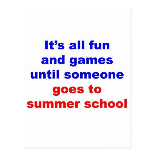Summer School Postcard