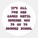 Summer School Round Stickers