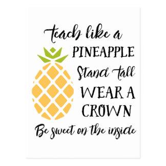 Summer School Teacher Appreciation Pineapple Postcard