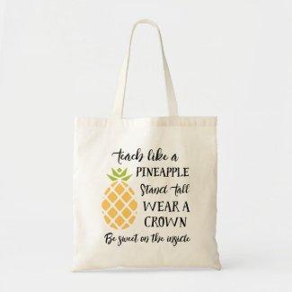 Summer School Teacher Appreciation Pineapple Tote Bag