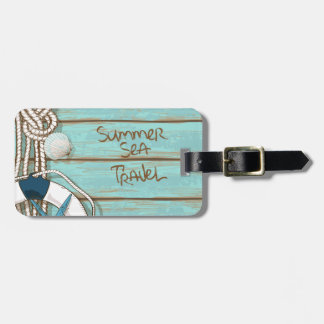 Summer, Sea, Travel Nautical Design Tag For Luggage
