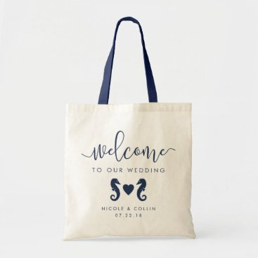 Valentines Themed Summer Seahorse Wedding Welcome Bag