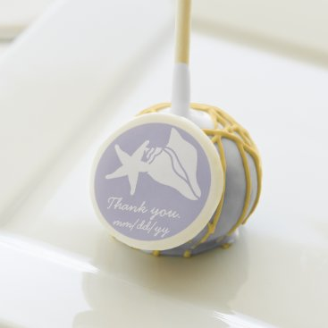 Beach Themed Summer Seashells in Lavender Cake Pop