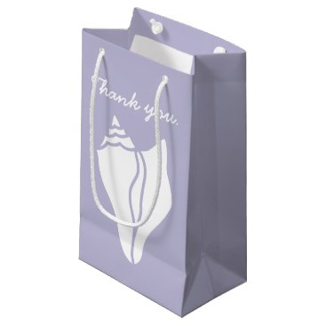 Beach Themed Summer Seashells in Lavender Gift Bag