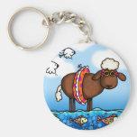 summer sheep keychain