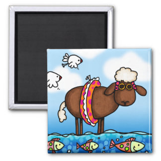 summer sheep magnet