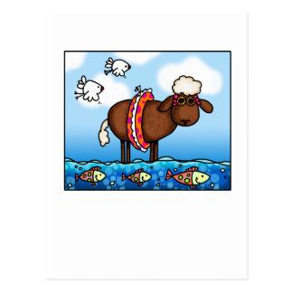 summer sheep postcard