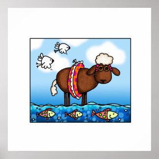 summer sheep poster