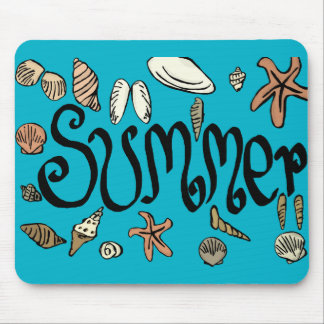 Summer shells mouse pad