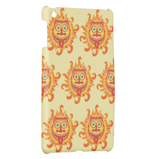 Summer shiny sun grinning and sticking tongue out cover for the iPad mini