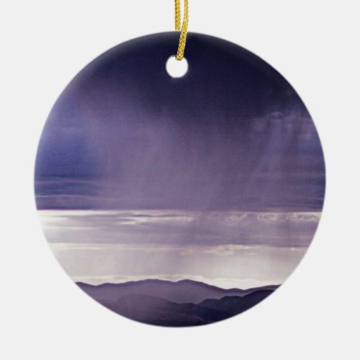 SUMMER SHOWERS Double-Sided CERAMIC ROUND CHRISTMAS ORNAMENT