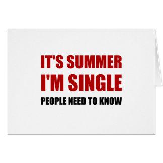 Summer Single Card