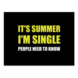 Summer Single Postcard
