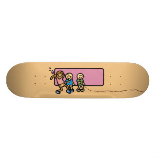 summer skatin'. skateboard deck