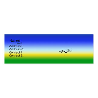 Summer Skies Double-Sided Mini Business Cards (Pack Of 20)