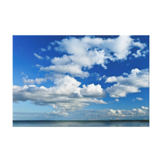 Summer Sky Full of White Clouds Canvas