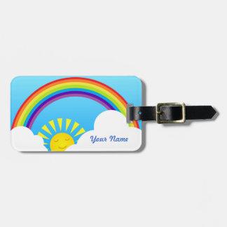 Summer sky luggage tag
