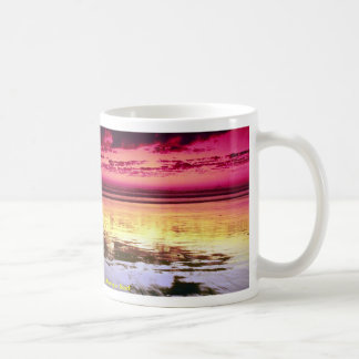 Summer sky reflections low tide Huntington Beach Coffee Mug