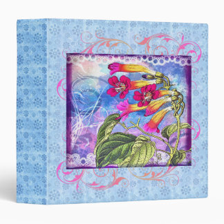 Summer Sky with Pink Flowers 3 Ring Binder