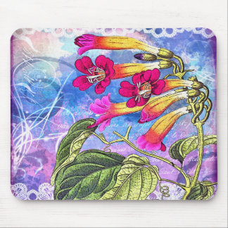 Summer Sky with Pink Flowers Mouse Pad