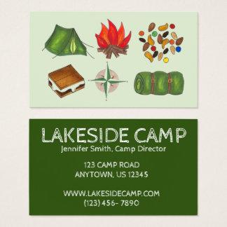 Summer Sleepaway Camp Camping Campground Business Card