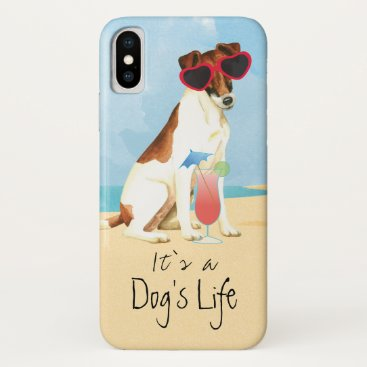 Summer Smooth Fox Terrier iPhone XS Case