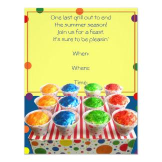 Summer Snowcone Party Invitation