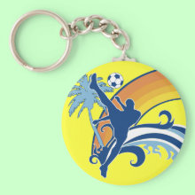 Summer Soccer Keychain