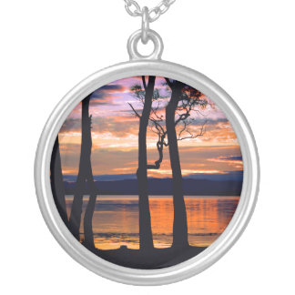 Summer Solace Round Pendant Necklace