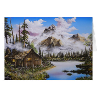 Summer Solitude Oil painting by David Paul Greeting Card