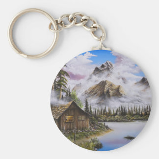 Summer Solitude Oil painting by David Paul Keychain