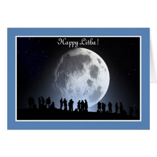 Summer Solstice Blessings with full moon Card