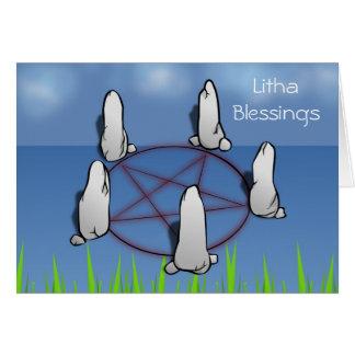 Summer Solstice Blessings with pentagram Card