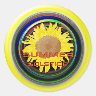 Summer Solstice Classic Round Sticker