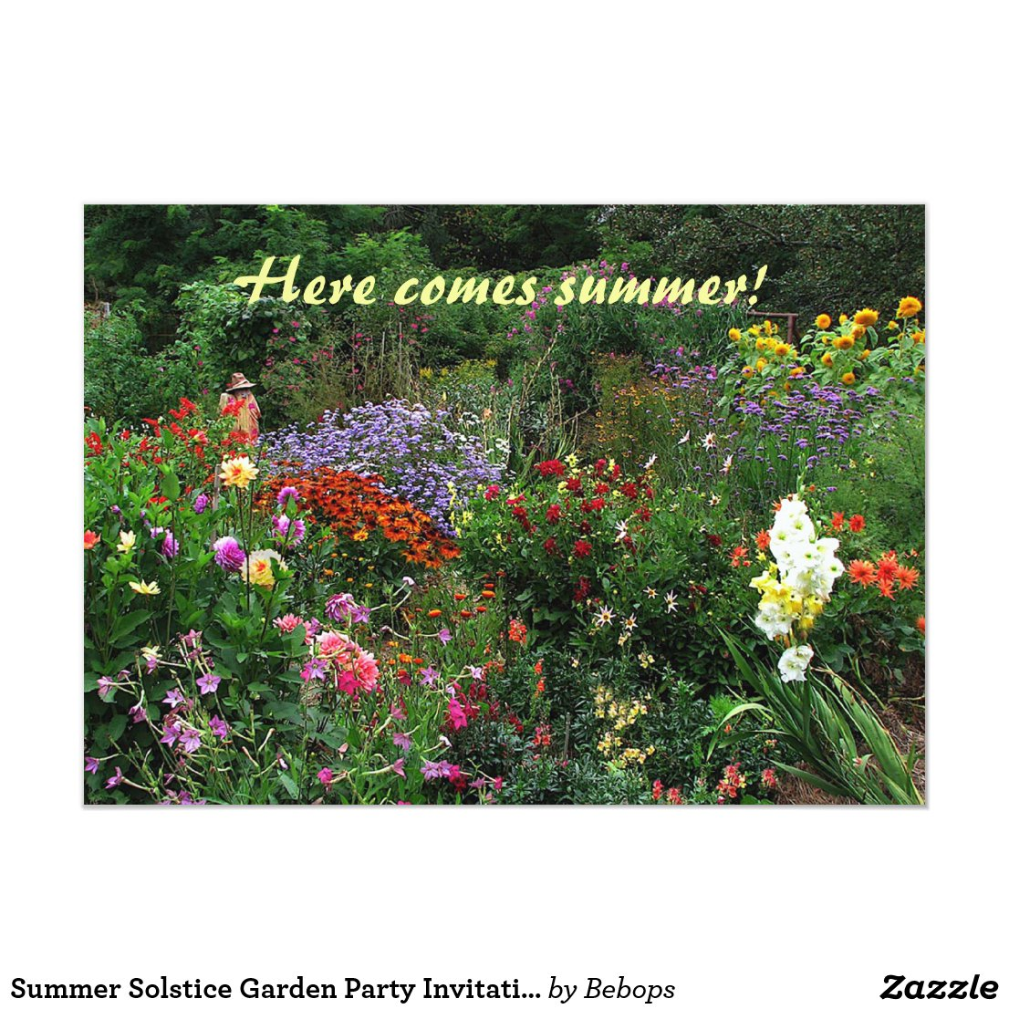 Summer Solstice Garden Party Invitation