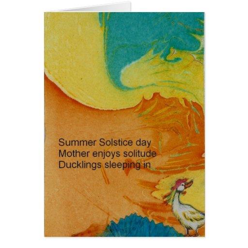 Summer Solstice Haiku Greeting Card