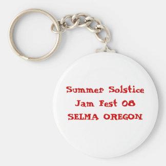 Summer Solstice Jam Fest 08SELMA OREGON Keychain