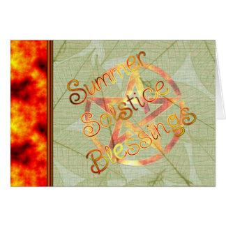 Summer Solstice Pagan Pentagram Greeting Card