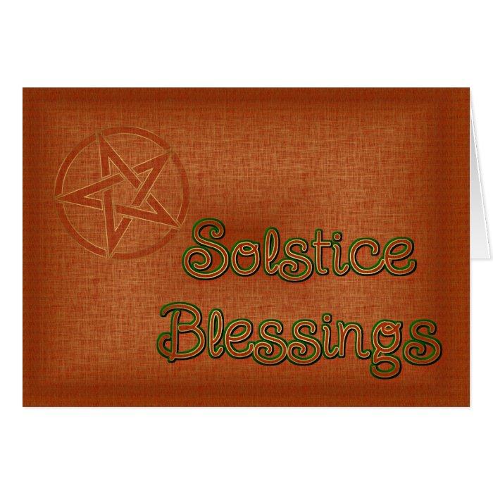 Summer Solstice Pagan Pentagram Card
