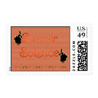 Summer Solstice Pagan Witches Stamp
