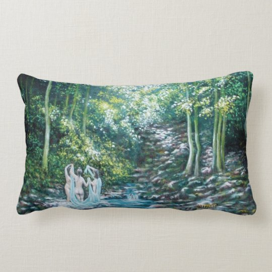 SUMMER SONGS IN THE FOREST OF VALLOMBROSA LUMBAR PILLOW