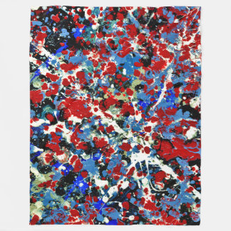 SUMMER SPLASH! (an abstract art design) ~ Fleece Blanket