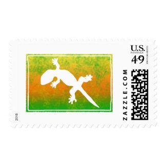 Summer Splash Lizard Postage Stamps