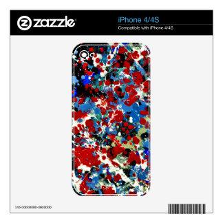SUMMER SPLASH TILE (an abstract art design) ~ Decal For iPhone 4