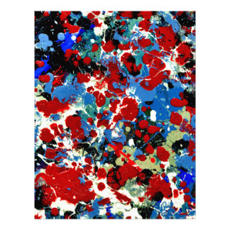 SUMMER SPLASH TILE (an abstract art design) ~ Letterhead