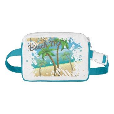 Beach Themed Summer splatter palm trees Beach Me Waist Bag