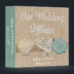 """Summer Spring Beach Wedding Photo Album Binder<br><div class=""""desc"""">Beautiful custom wedding design featuring a beach summer theme. Perfect for that beach wedding. You can customize and personalize it any way you wish.</div>"""