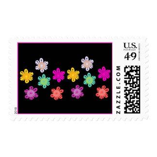Summer / Spring Colorful Flower Stamps
