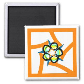 Summer Star - Orange Fridge Magnets